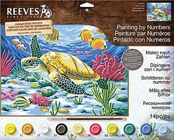 Colart Sea Turtle Acrylic Paint by Number 11.5x15.5