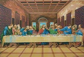 Colart The Last Supper Acrylic Paint by Number 12''x16'' (Replaces #85496)