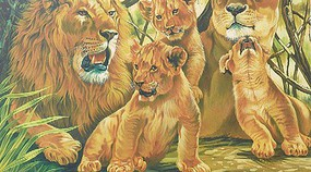 Colart Pride of Lions Acrylic Paint by Number 11.5x15.5 (Replaces #91589)