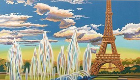 Colart Eiffel Tower, Paris Acrylic Paint by Number 11.5''x15.5'' (Replaces #12188)