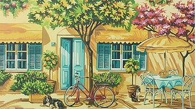 Colart Alfresco Outdoor Cafe Acrylic Paint by Number 11.5x15.5 (Replaces #13060)