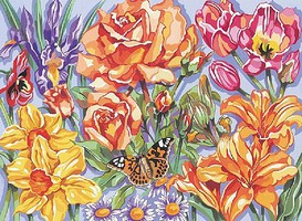 Colart Floral Garden Acrylic Paint by Number 11.5x15.5 (Replaces #13061)