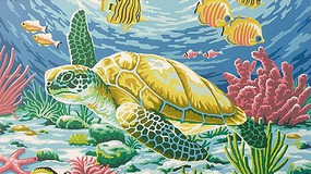 Colart Sea Turtle (Fish & Coral) Acrylic Paint by Number 11.5x15.5 (Replaces #85697)
