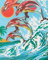 Dolphins Acrylic Paint by Number 9''x12'' (Replaces #12034)