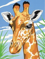 Giraffe (Head) Acrylic Paint by Number 9''x12'' (Replaces #12065)