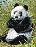 Panda/Bamboo Acrylic Paint by Number 9''x12'' (Replaces #12192)