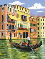 Venice, Italy (Tour on Gondola) Acrylic Paint by Number 9''x12'' (Replaces #85503)