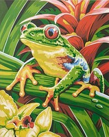 Tree Frog Acrylic Paint by Number 9''x12'' (Replaces #85700)