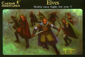 Caesar 1/72 Fantasy Noble Fighting Elves (35+) (Re-Issue)