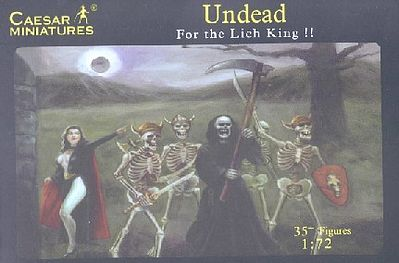Caesar Miniatures Figures Fantasy Undead Fighting Skeletons -- Plastic Model Fantasy Figure -- 1/72 Scale -- #103