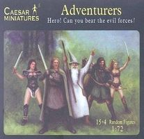 Caesar Fantasy Heroic Adventurers Plastic Model Fantasy Figure 1/72 Scale #104