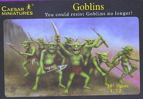Caesar Fantasy Goblin Warriors Plastic Model Fantasy Figure 1/72 Scale #105