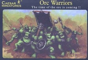 Caesar Fantasy Orc Warriors Plastic Model Fantasy Figure 1/72 Scale #106