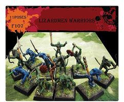 Caesar Lizardmen Warriors (11) Plastic Model Figure 1/72 Scale #107