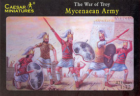 Caesar War of Troy Mycenaean Army (42) Plastic Model Military Figure 1/72 Scale #20
