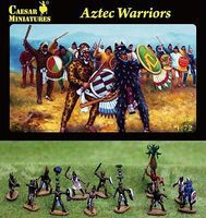 Caesar Aztec Warriors (33) Plastic Model Military Figure 1/72 Scale #28