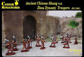 Caesar Ancient Chinese Shang vs Zhou Dynasty Troopers (34) Plastic Model Military Figure 1/72 #29
