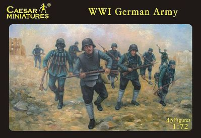 Caesar Miniatures Figures WWI German Army (45) -- Plastic Model Military Figure -- 1/72 Scale -- #35