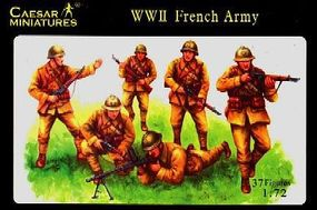 Caesar WWII French Army (37) Plastic Model Military Figure 1/72 Scale #38