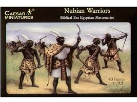 Caesar Biblical Era Egyptian Mercenaries Nubian Warriors Plastic Model Military Figure 1/72 #49