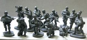Caesar Modern US Elite Force (40) Plastic Model Military Figure 1/72 Scale #58