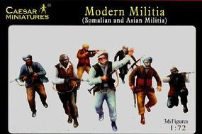 Caesar Modern Militia Somalian & Asian (36) Plastic Model Military Figure 1/72 Scale #63