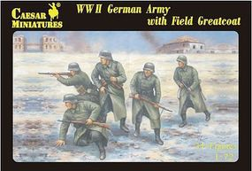 Caesar WWII German Army w/Field Greatcoat (34) Plastic Model Military Figure 1/72 Scale #69