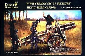 Caesar WWII German SiG33 Infantry Heavy Field Cannon Plastic Model Artillery Kit 1/72 #7202
