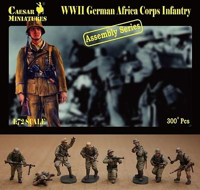 Caesar WWII German Africa Corps Infantry Plastic Model Military Figure 1/72 Scale #7713