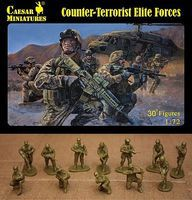 Caesar Counter-Terrorist Elite Forces (30+) Plastic Model Military Figure 1/72 Scale #82