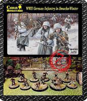 Caesar WWII German Infantry in Smocks Winter (32+) Plastic Model Military Figure 1/72 Scale #83