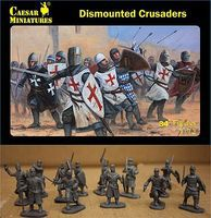 Caesar Dismounted Crusaders (34+) Plastic Model Military Figure 1/72 Scale #86