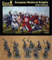 Caesar 13th Century European Medieval Knights (34+) Plastic Model Military Figure 1/72 Scale #87