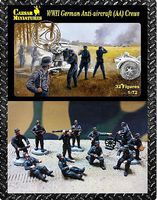 Caesar WWII German Anti-Aircraft Crew (32+) Plastic Model Military Figure 1/72 Scale #89