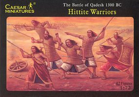 Caesar Battle of Qadesh 1300BC Hittite Warriors (42) Plastic Model Military Figure 1/72 Scale #8
