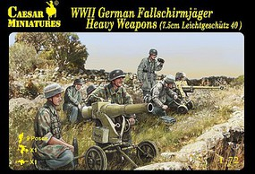 Caesar WWII German Fallschirmjager Heavy Weapons Plastic Model Military Figure 1/72 #98