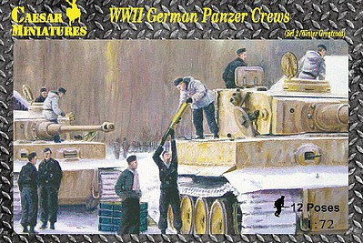 Caesar Miniatures Figures 1/72 WWII German Panzer Crews Set #2 (12)