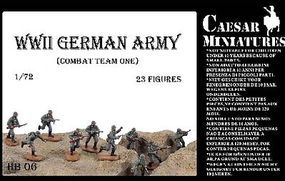 Caesar WWII German Army Combat Team One (23) Plastic Model Military Figure 1/72 Scale #hb6