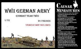 Caesar WWII German Army Combat Team Two (21) Plastic Model Military Figure 1/72 Scale #hb7