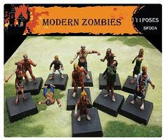 Caesar Modern Zombies (11) Plastic Model Figure 1/72 Scale #sf4