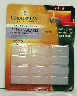 Candle Making Supplies Concentrated Scent Square Cherry 1/2oz. -- Candle Making Kit -- #70702