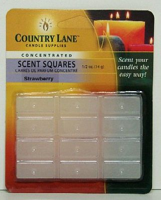 Candle Making Supplies Concentrated Scent Square Strawberry 1/2oz. -- Candle Making Kit -- #70722