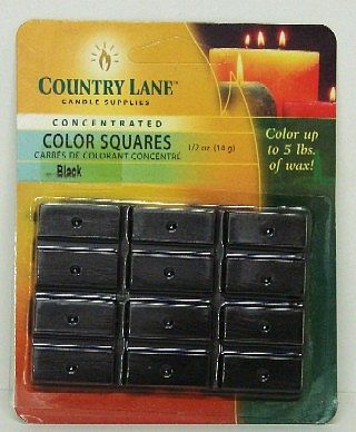 Candle Making Supplies Concentrated Color Square Black 1/2oz. -- Candle Making Kit -- #90601