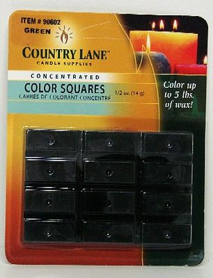 Candle Making Supplies Concentrated Color Square Forest Green 1/2oz. -- Candle Making Kit -- #90602