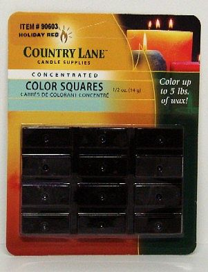 Candle Making Supplies Concentrated Color Square Holiday Red 1/2oz. -- Candle Making Kit -- #90603