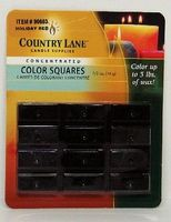 Candle-Making Concentrated Color Square Holiday Red 1/2oz. Candle Making Kit #90603