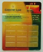Candle-Making Concentrated Color Square Yellow 1/2oz. Candle Making Kit #90606