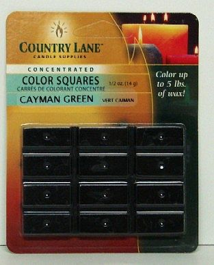 Candle Making Supplies Concentrated Color Square Green 1/2oz. -- Candle Making Kit -- #90610