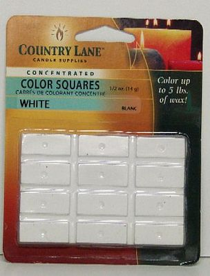 Candle Making Supplies Concentrated Color Square White 1/2oz. -- Candle Making Kit -- #90618