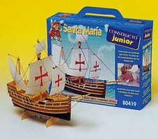 Constructo Junior Santa Maria 3-Masted Sailing Ship w/solid wood hull (Beginner)
